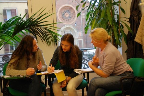 Learning italian in milan